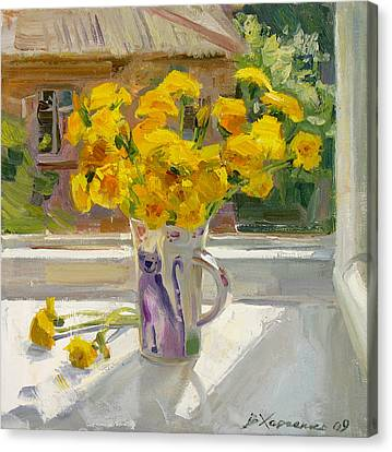 Sunny May Canvas Print by Victoria Kharchenko