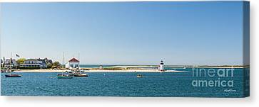 Sunny Nantucket Afternoon Canvas Print by Michelle Wiarda