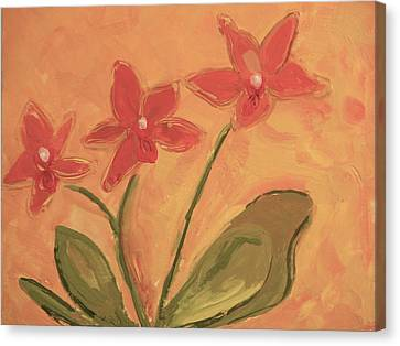 Sunny Orchids Canvas Print by Valerie Lynch