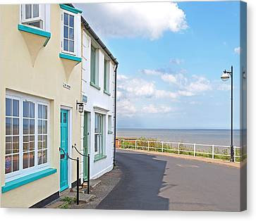 Sunny Outlook - Southwold Seafront Canvas Print by Gill Billington