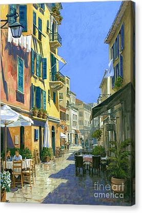 Sunny Side Of The Street 30 X 40 - Sold Canvas Print by Michael Swanson