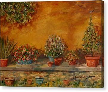 Sunny Sideyard Canvas Print by Dorothy Allston Rogers