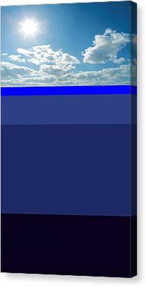 Sunny Sky Over Dead Oceans Canvas Print by Bruce Iorio