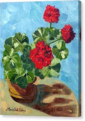 Sunny Spanish Geranium Canvas Print by Maria Soto Robbins