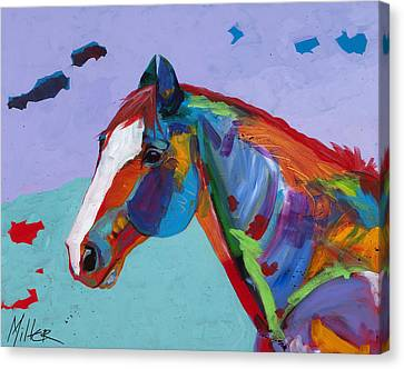 Horse In Art Canvas Print - Sunny by Tracy Miller