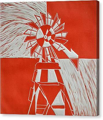 Sunny Windmill Canvas Print by Verana Stark