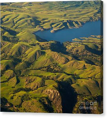 Sunol Wilderness From Above Canvas Print by Matt Tilghman