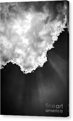 Sunrays In Black And White Canvas Print