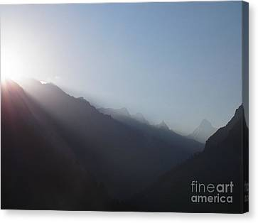 Sunrise Above Gangotri Canvas Print by Agnieszka Ledwon
