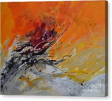 Sunrise - Abstract 1 Canvas Print by Ismeta Gruenwald