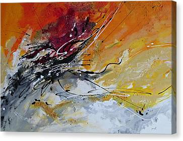 Canvas Print featuring the painting Sunrise - Abstract Art by Ismeta Gruenwald