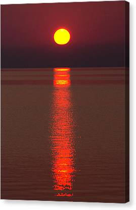 Sunrise And Reflection Canvas Print by Cale Best