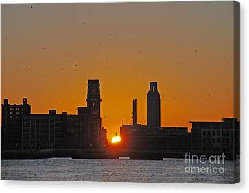 Sunrise And The City Canvas Print