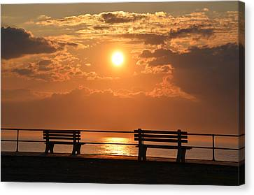 Sunrise At Asbury Park Canvas Print by Bill Cannon