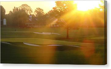 Sunrise At Augusta National Canvas Print by Bo  Watson