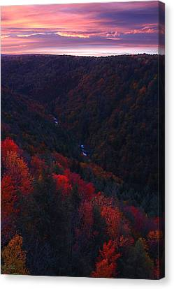 Sunrise At Blackwater Falls State Park Canvas Print