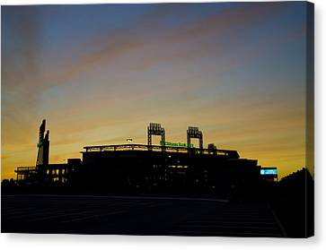 Sunrise At Citizens Bank Park Canvas Print by Bill Cannon