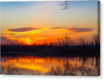 Sunrise At Clear Creek Canvas Print