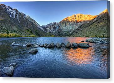 Sunrise At Convict Lake Canvas Print