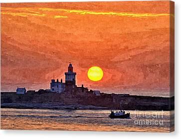 Sunrise At Coquet Island Northumberland - Photo Art Canvas Print