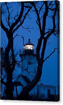 Sunrise At Eastern Point Lighthouse - Gloucester Ma Canvas Print by Joann Vitali