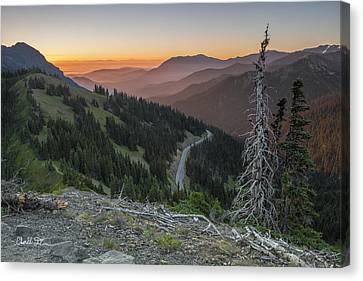 Sunrise At Hurricane Ridge - Sunrise Peak Canvas Print by Charlie Duncan