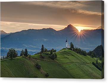Sunrise At Jamnik Canvas Print