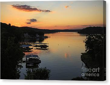 Sunrise At Lake Of The Ozarks Canvas Print by Dennis Hedberg