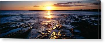Sunrise At Lake Superior, Porcupine Canvas Print