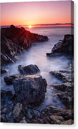 Sunrise At Marginal Way Canvas Print by Michael Blanchette
