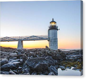 Sunrise At Marshall Point Lighthouse Canvas Print by Gary Wightman