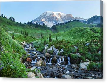 Canvas Print - Sunrise At Mt Rainier by Kimberly Deverell