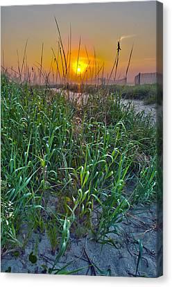 Canvas Print featuring the photograph Sunrise At Myrtle Beach by Alex Grichenko