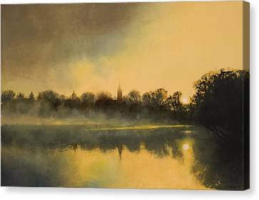 Universities Canvas Print - Sunrise At Notre Dame Sold by Cap Pannell