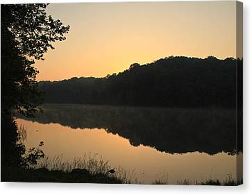 Sunrise At Rose Lake Canvas Print