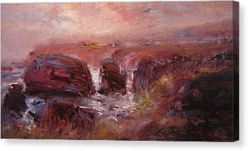 Sunrise At Shell Beach Canvas Print by R W Goetting