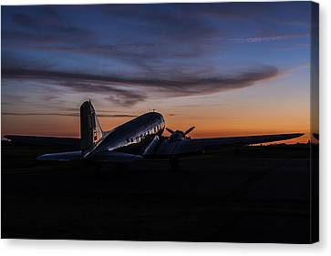 Murray Kentucky Canvas Print - Sunrise At The Airport by Amber Kresge