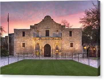 Sunrise At The Alamo San Antonio Texas 1 Canvas Print