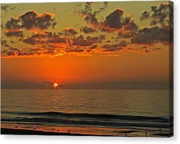 Sunrise At The Beach V Canvas Print