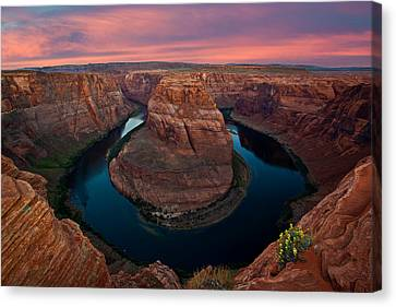 Sunrise At The Bend Canvas Print by Guy Schmickle
