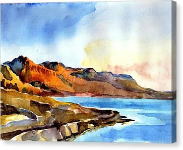 Sunrise At The Dead Sea  Canvas Print