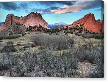 Colorado Landmarks Canvas Print - Sunrise At The Gods by Adam Jewell