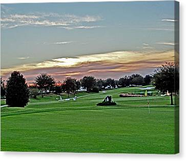 Sunrise At The Golf Course Canvas Print by Dennis Dugan