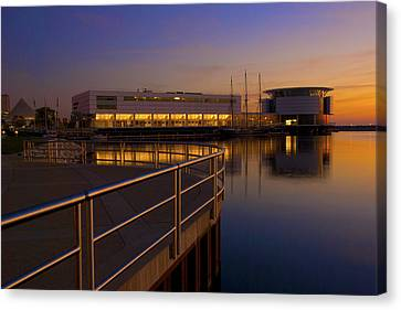 Canvas Print featuring the photograph Sunrise At The Lakefront by Jonah  Anderson