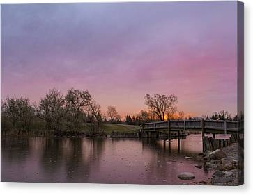 Sunrise At The Park Canvas Print by Dwayne Schnell