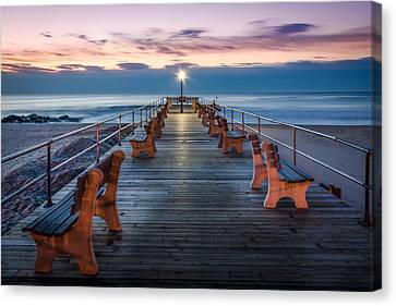 Sunrise At The Pier Canvas Print by Steve Stanger