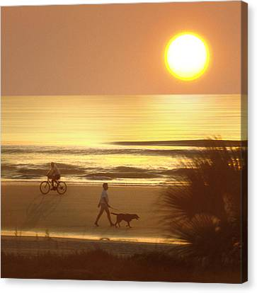 Sunrise At Topsail Island 2 Canvas Print by Mike McGlothlen