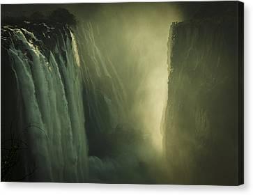 Sunrise At Victoria Falls Canvas Print by Alison Buttigieg
