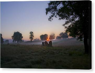 Sunrise At Whitemarsh Canvas Print by Bill Cannon