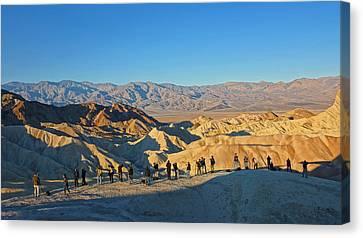 Canvas Print featuring the photograph Sunrise At Zabriskie Point - Death Valley by Dana Sohr